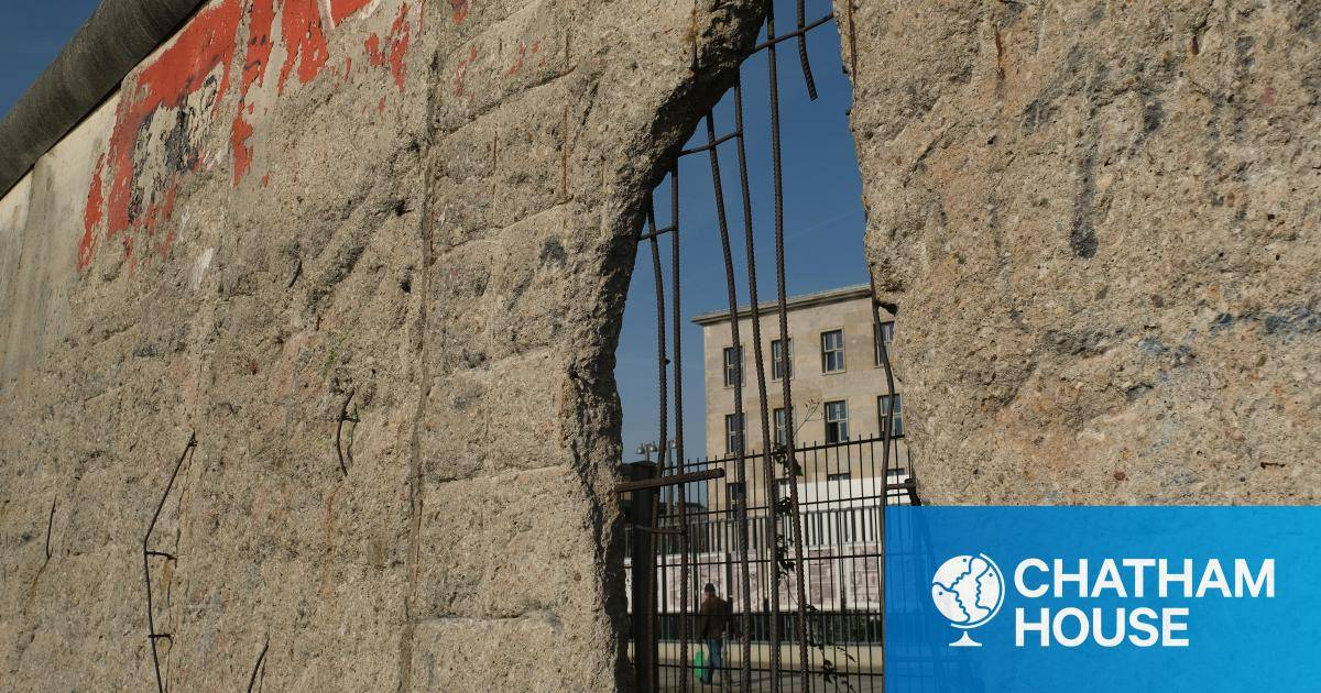 Why We Build Walls 30 Years After The Fall Of The Berlin Wall Chatham House International Affairs Think Tank